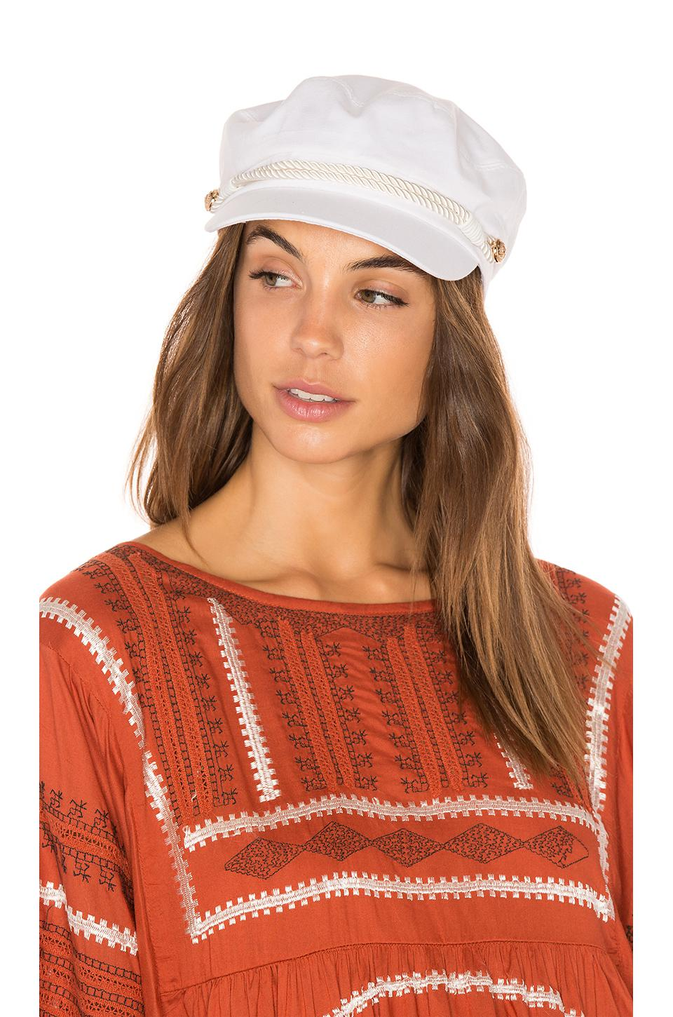 Lyst - Hat Attack Emmy Cap In White. in White 4b56a1996d4