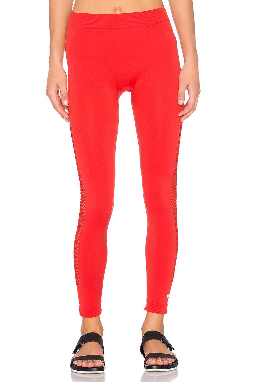 lyst adidas da stella mccartney essenziale in maglie strette in rosso