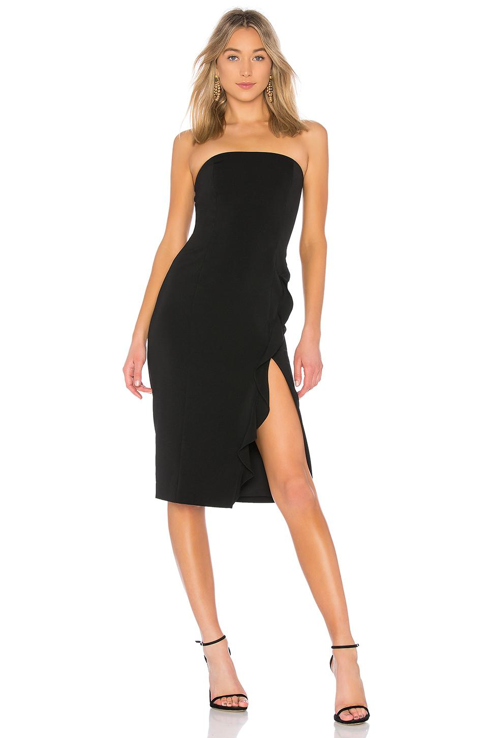 6e3342e4e4dc Jay Godfrey Memphis Midi Dress in Black - Lyst