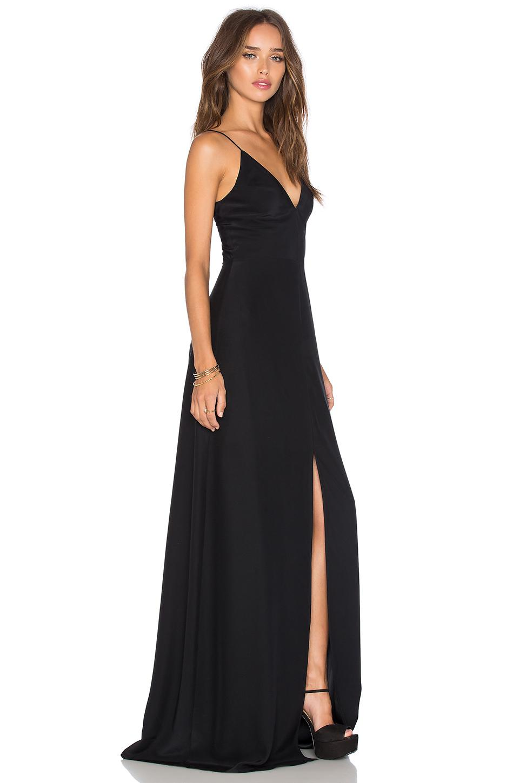 Lyst Amanda Uprichard Trixie Silk Maxi Dress In Black