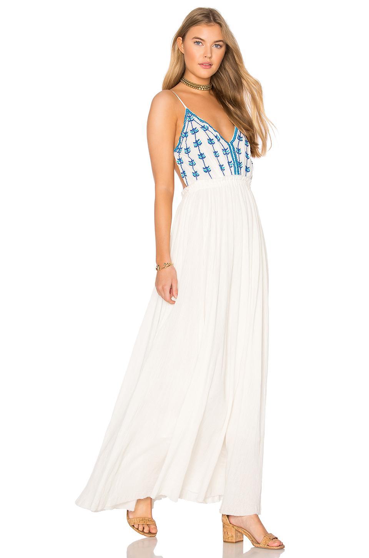 Lyst Raga Riptide Backless Maxi Dress In White
