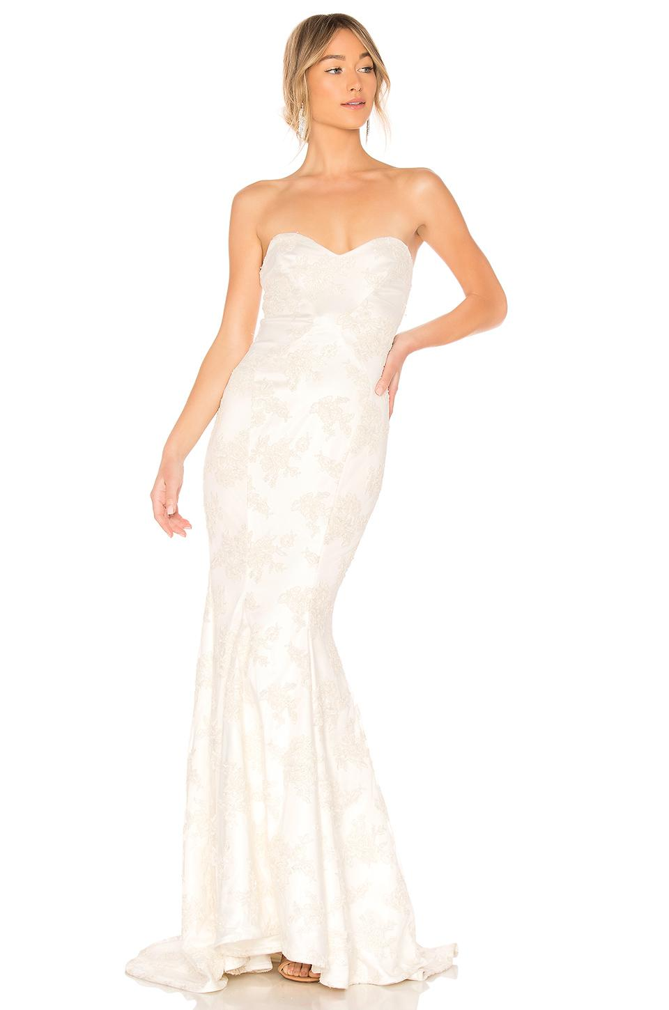 2a57db6c3631 Lyst - Michael Costello X Revolve Amelia Gown in White
