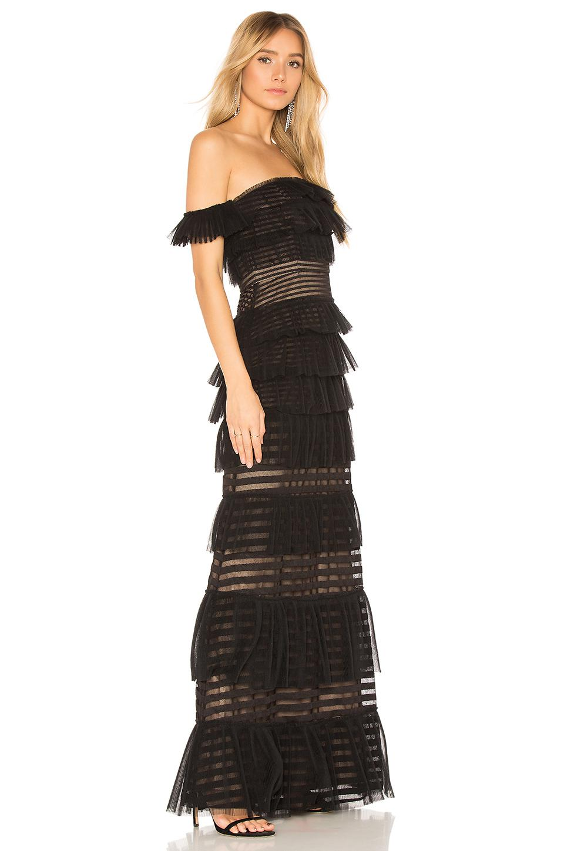 Lyst Bcbgmaxazria Elora Off The Shoulder Gown In Black