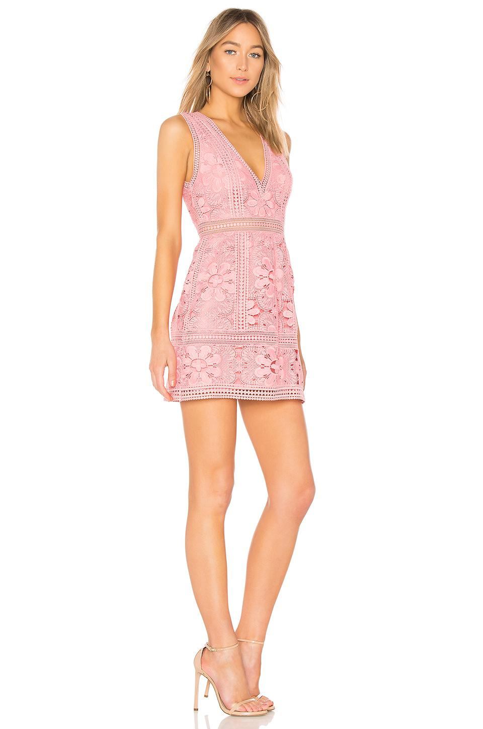Alice Olivia Pink Zula Lace Dress Lyst View Fullscreen