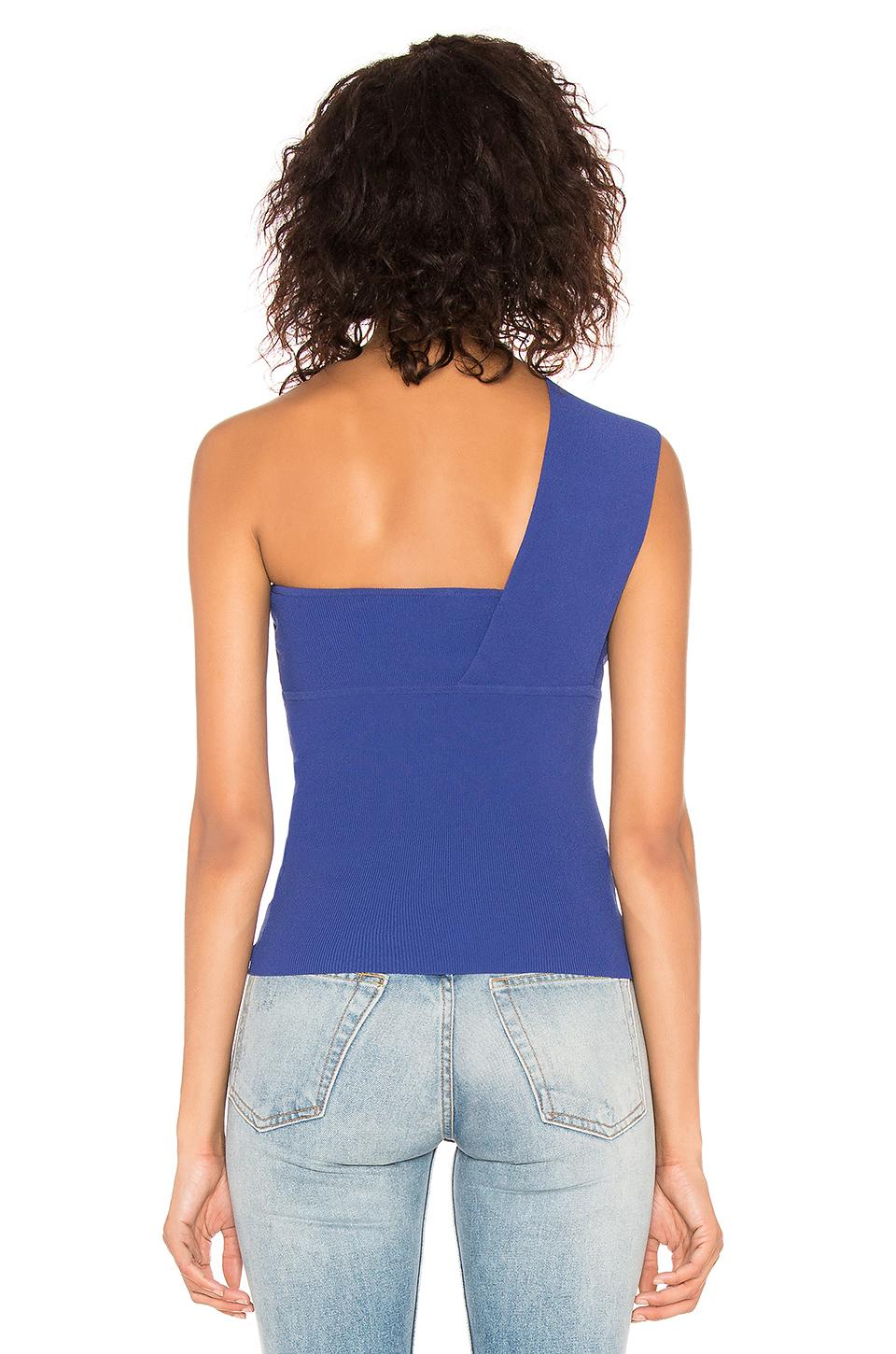 7e695a21bfee3 Autumn Cashmere - Blue One Shoulder Tube Top - Lyst. View fullscreen