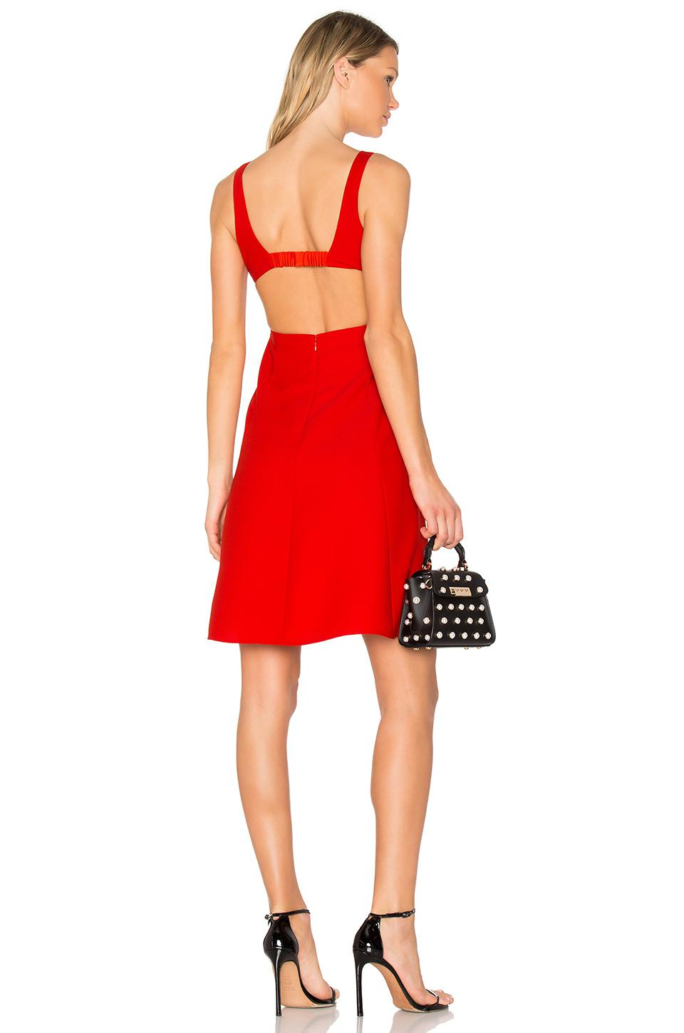 477f5c30de Lyst - T By Alexander Wang Square Neck Dress in Red