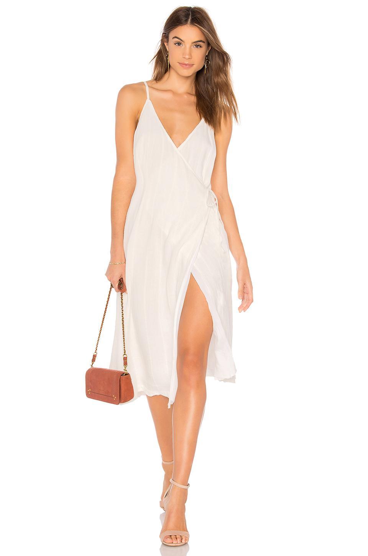 682aa4cd56 MINKPINK Sienna Wrap Dress in White - Lyst
