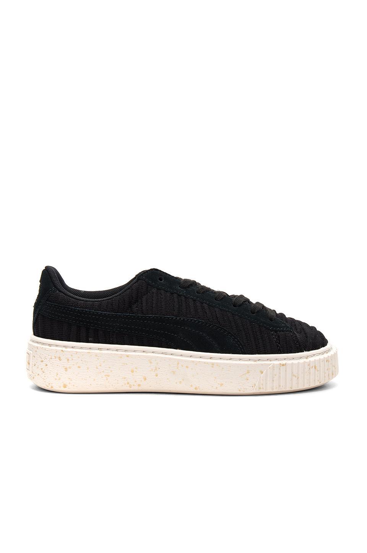 8bb227ac0af1ea Lyst - Puma Basket Platform Sneaker In Black in Black