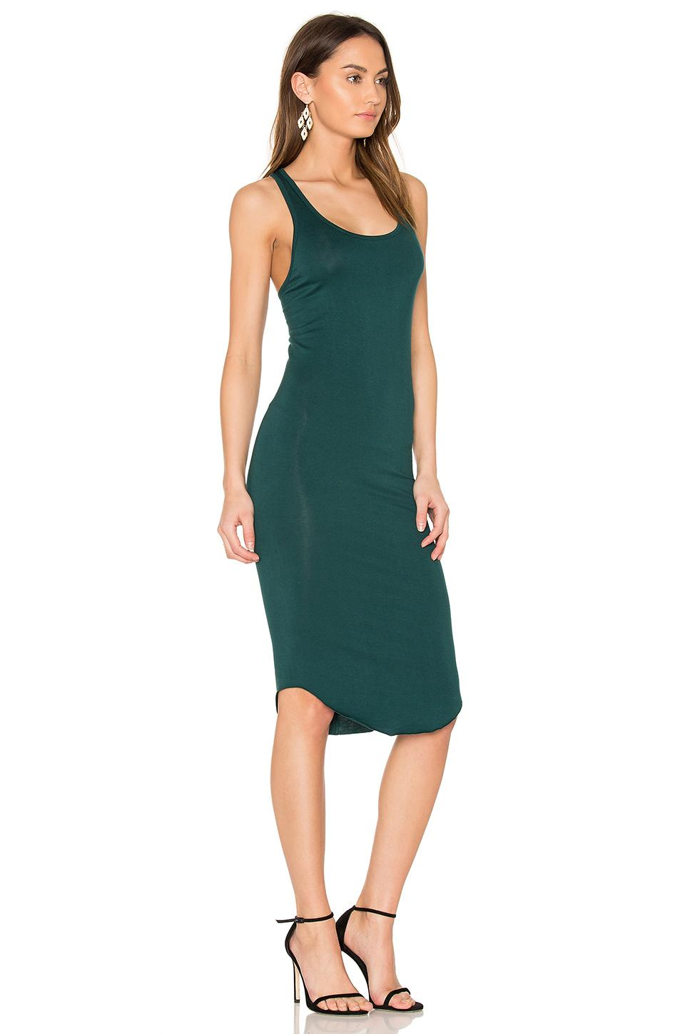 Lyst Blq Basiq Racer Tank Dress In Green