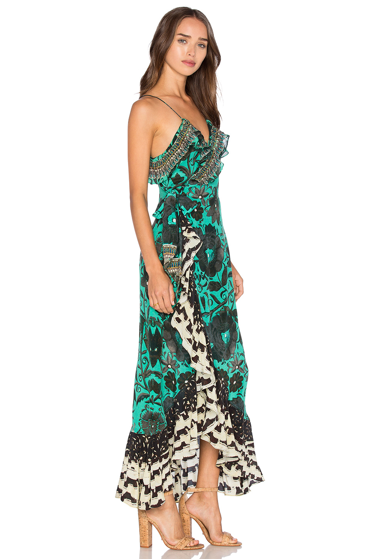 Lyst Camilla Frill Amp Long Back Dress