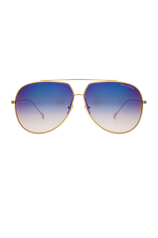 89aa2a558f8e Lyst - DITA Condor Sunglasses in Blue