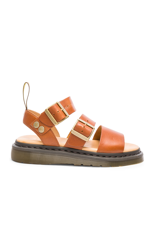 Lyst Dr Martens Gryphon Strap Sandal In Brown