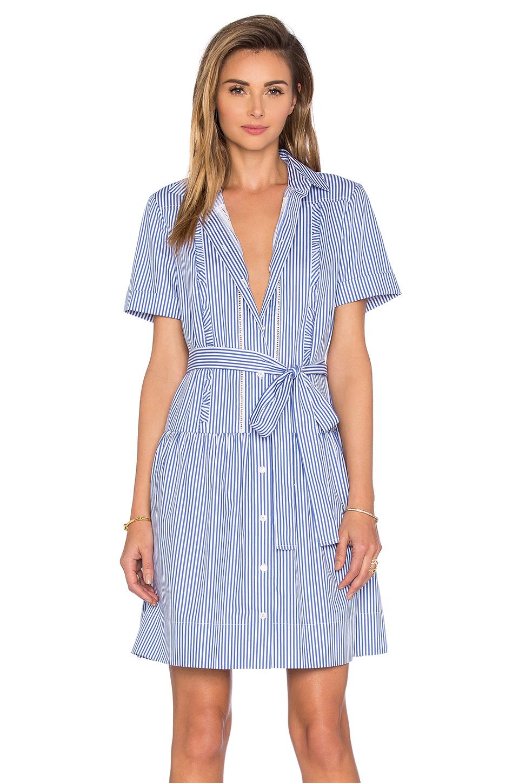 Kate Spade New York Pinstripe Shirt Dress In Blue Lyst
