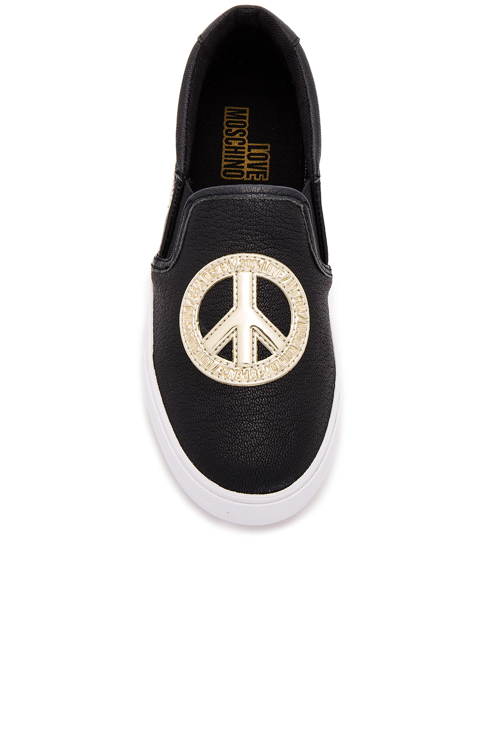 Love Moschino Peace Sign Sneaker In Black Lyst