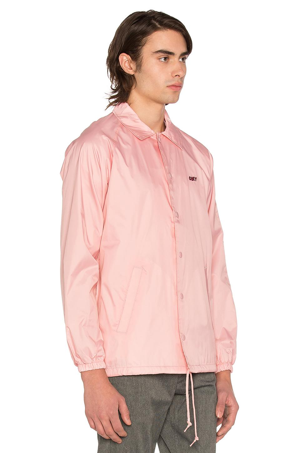 Lyst Obey Unusual Activity Coaches Jacket In Pink For Men