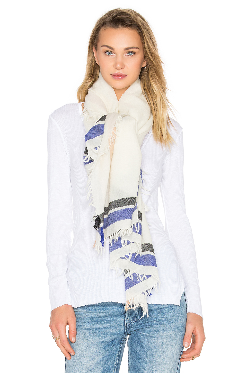rag bone addie scarf in black lyst