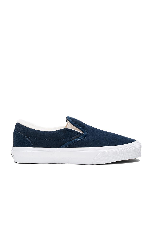 3eef385375e Lyst - Vans Classic Fleece Lined Slip On in Blue for Men