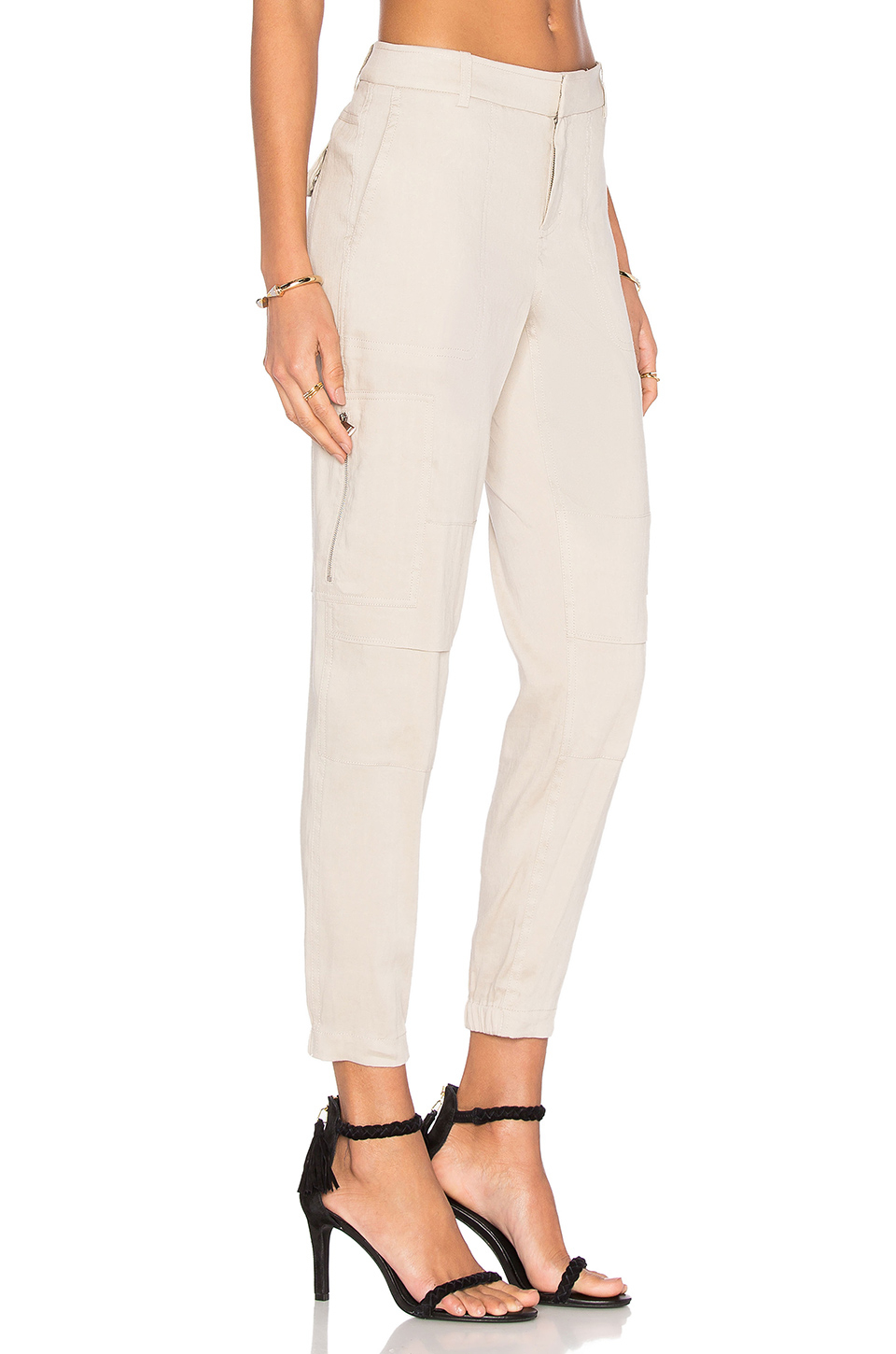 Lyst Vince Linen Cargo Pant In Natural