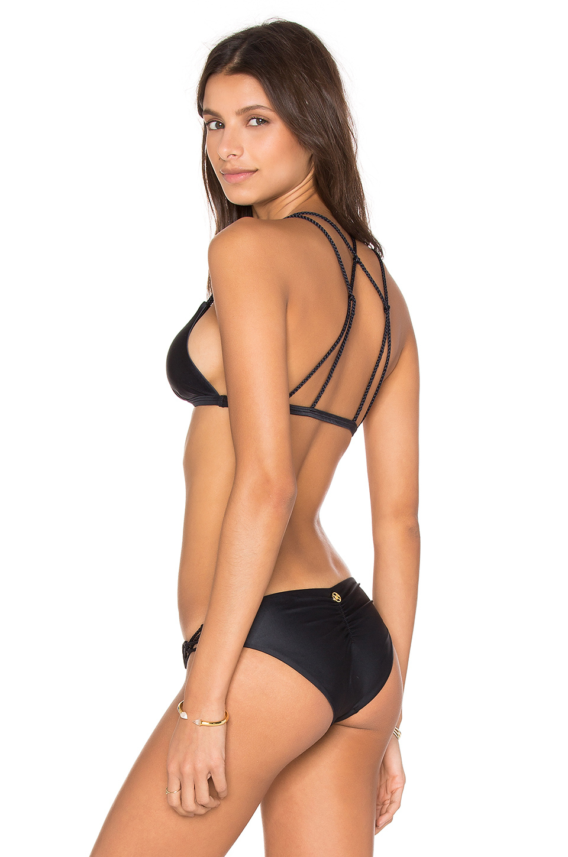 Vix braid bikini bottom in black solid black lyst