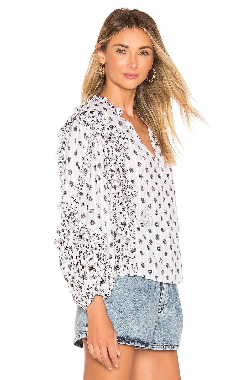 ac4f90ce827 Ulla Johnson - Multicolor Kati Blouse In White - Lyst. View fullscreen