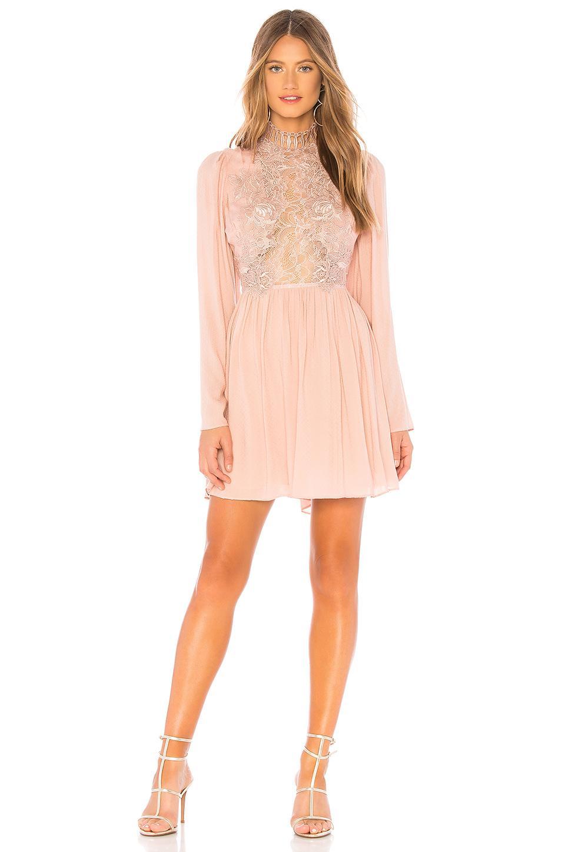 b4a4963c05c6f Lyst - Free People Divine Mini Dress in Pink