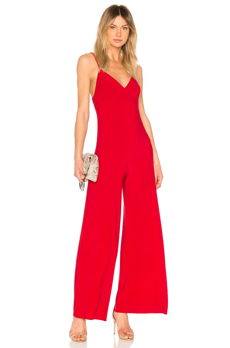 7a22d444573 Norma Kamali Slip Jumpsuit in Red - Lyst