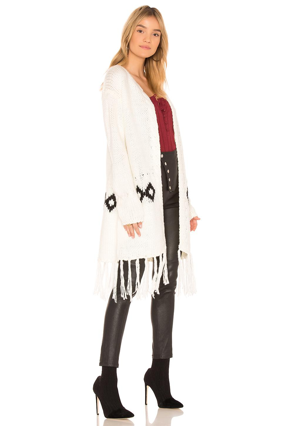 Minkpink Fringe Festive Cardigan Sweater Best Authentic Buy Cheap Best Wholesale Pay With Paypal For Sale With Paypal eaQ6KQXe