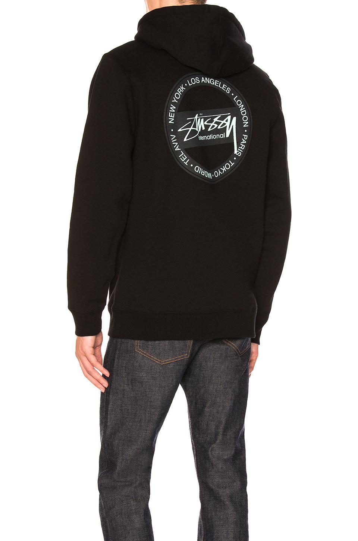 8929f2e4b282 Stussy International Dot Zip Hoody in Black for Men - Lyst