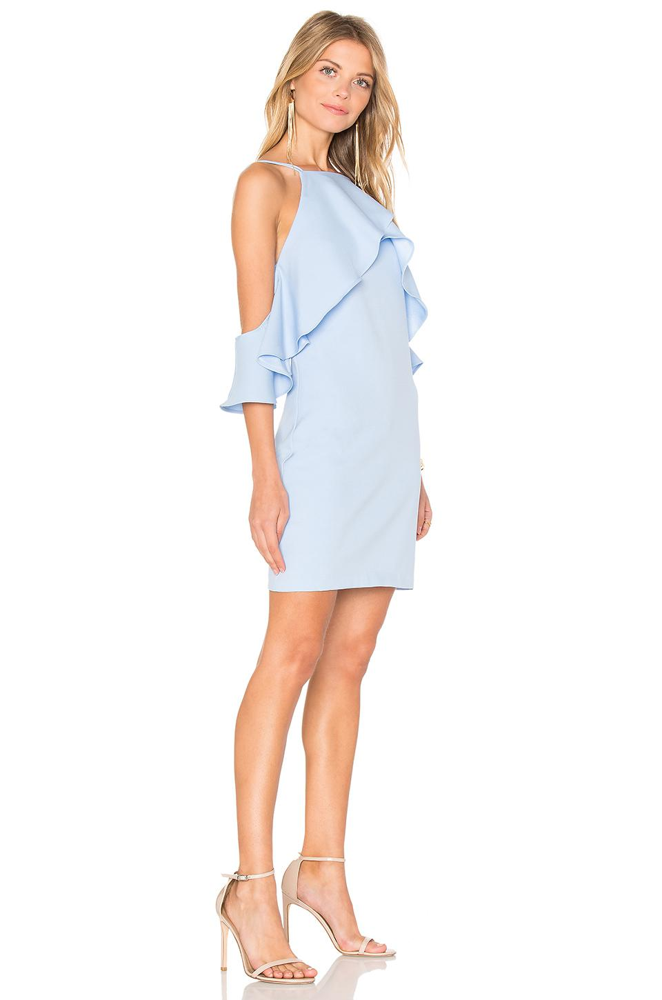 Lyst Endless Rose Flared Ruffle Dress In Blue