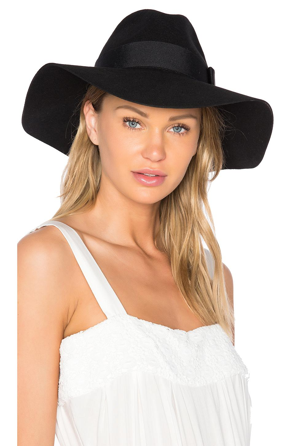 33a1a7bf Brixton Piper Hat in Black - Lyst