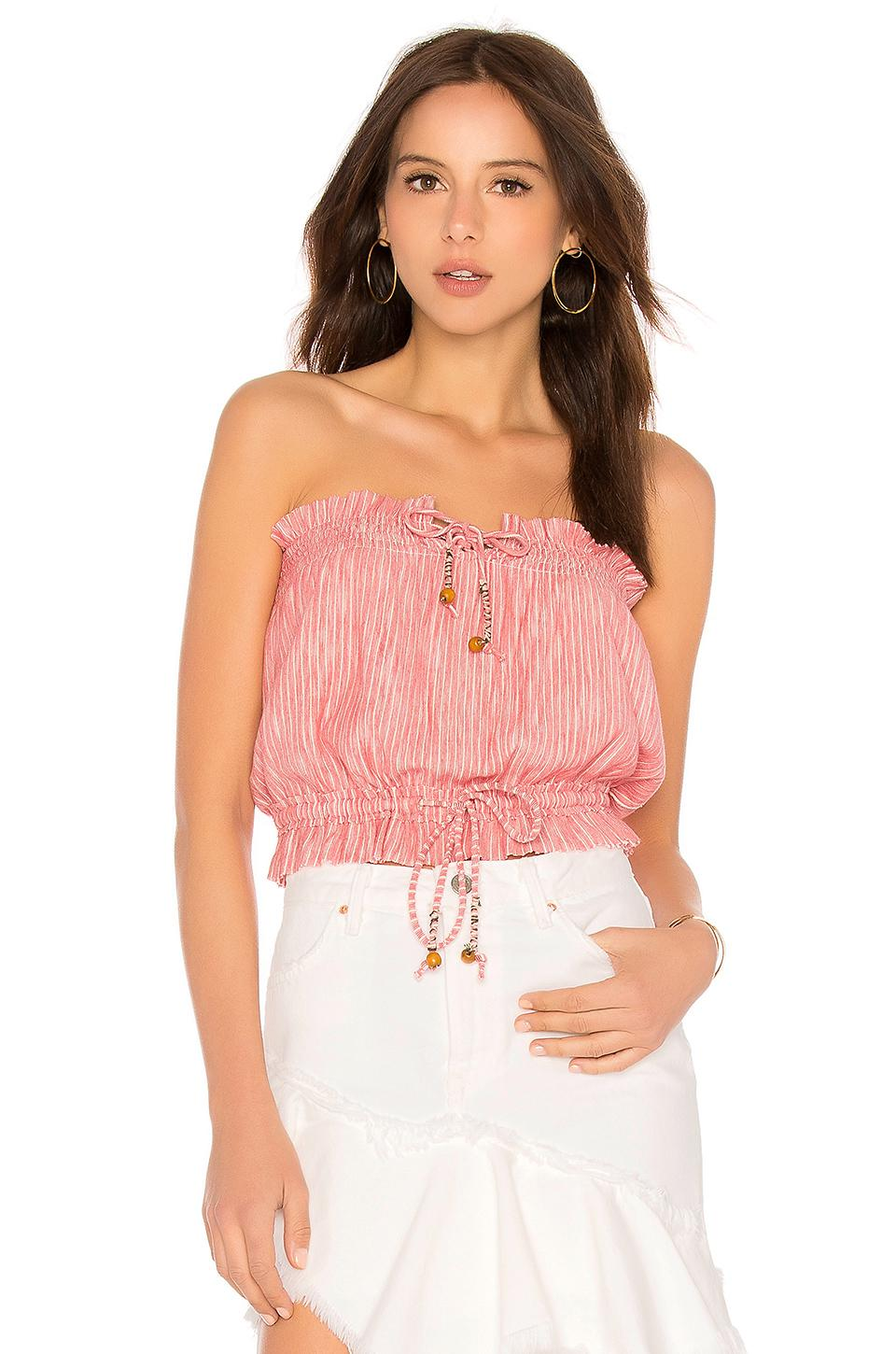 6eb52b804f Lyst - Free People Peppermint Tube Top in Red