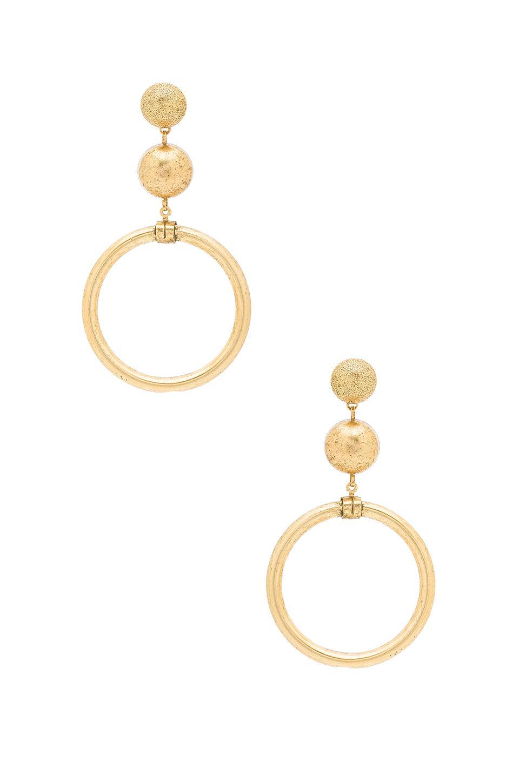 Drop Earrings in Metallic Gold Elizabeth Cole ylC2pOPIXW