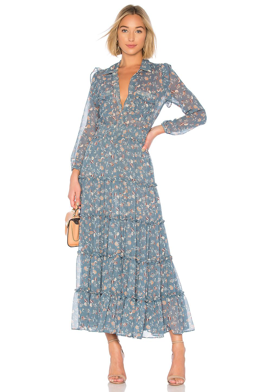 974fac9750 MISA Aydeniz Dress in Blue - Lyst