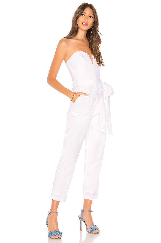 8d31ba1286f Amanda Uprichard - Cherri Jumpsuit In White - Lyst. View fullscreen