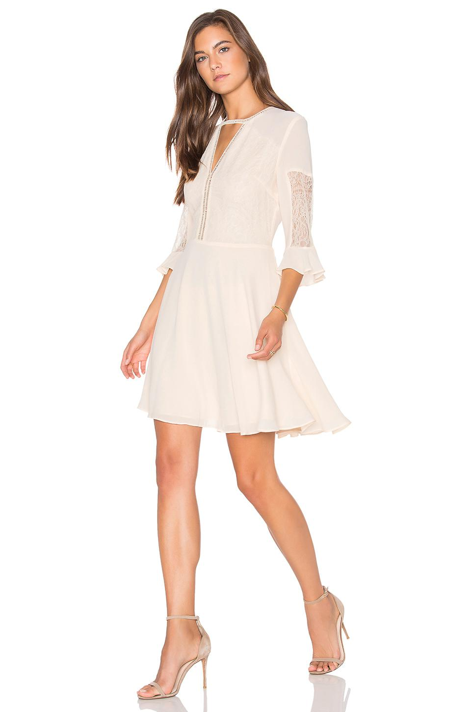 83aa0725 Lucy Paris Cassandra Crepe Dress in White - Lyst