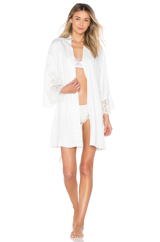 509815df99b Flora Nikrooz Charmeuse Robe in White - Lyst