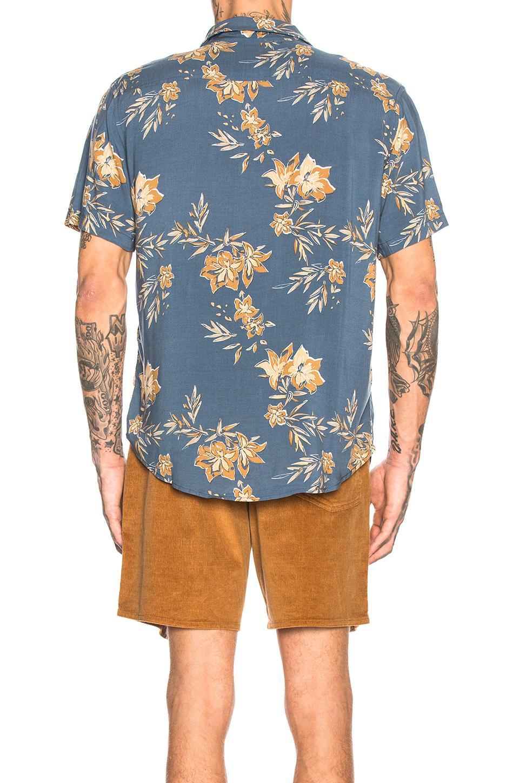 60e7db98691b90 Rhythm - Blue Vintage Aloha Shirt for Men - Lyst. View fullscreen