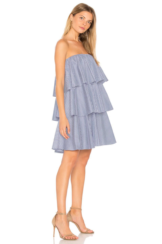 Lyst - Blaque Label Preppy Mini Dress in Blue