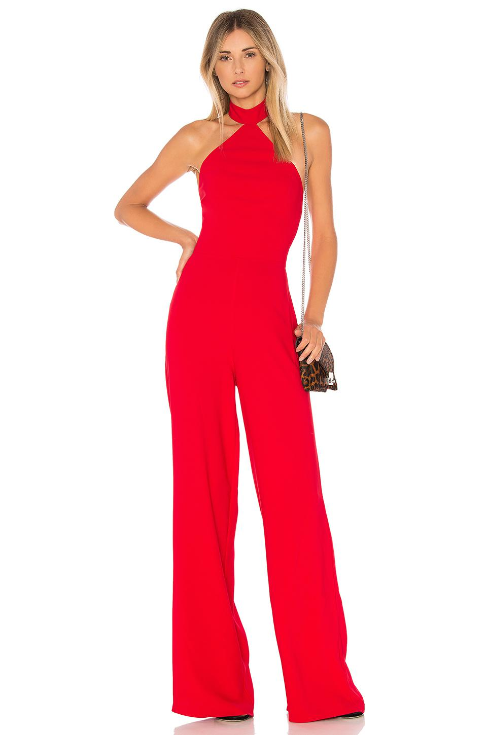 ef46bf81817 Amanda Uprichard Lawrence Jumpsuit in Red - Lyst