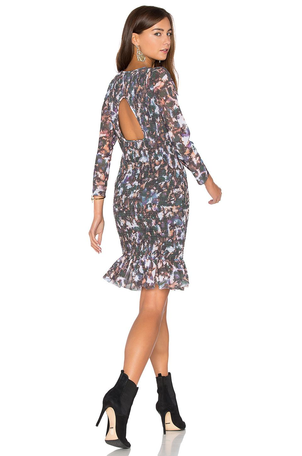 a0bd67ed036 Lyst - Twelfth Street Cynthia Vincent Smocked Flounce Dress in Black