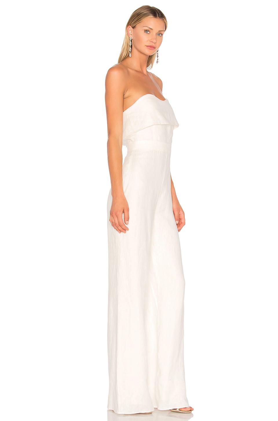 09eac4e3e283 Lyst - Alexis Jara Jumpsuit in White