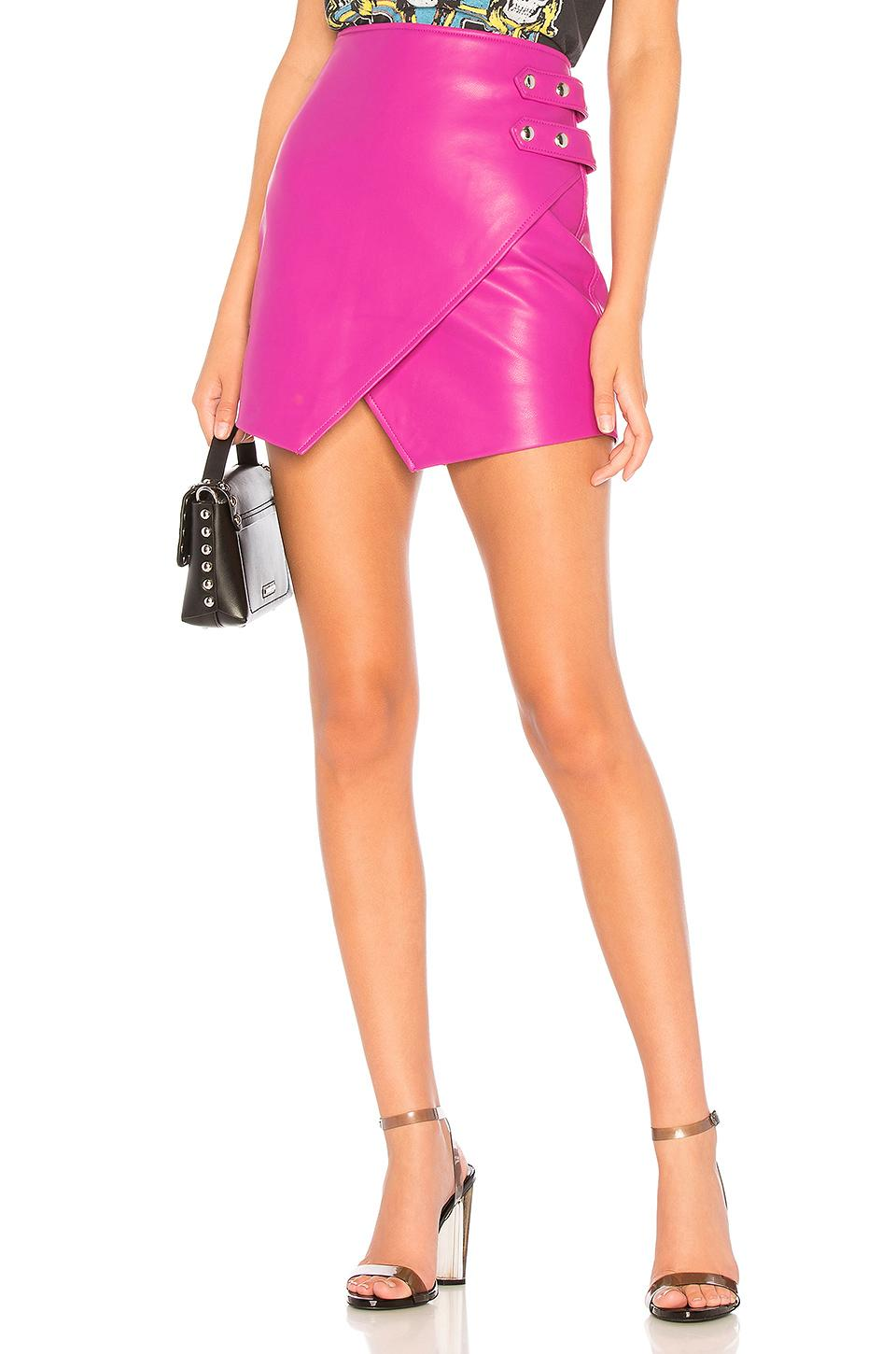 9a3a2430214 Blank NYC - Pink Overlap Vegan Leather Skirt - Lyst. View fullscreen