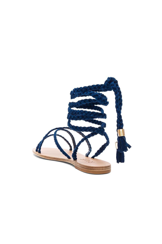 e53151e4bcd Lyst - RAYE X Revolve Sadie Braid Sandal in Blue