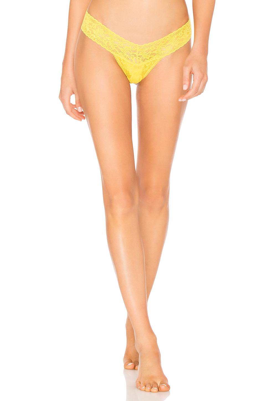 Hanky Panky. Women s Low Rise Thong In Yellow. 1df55c664