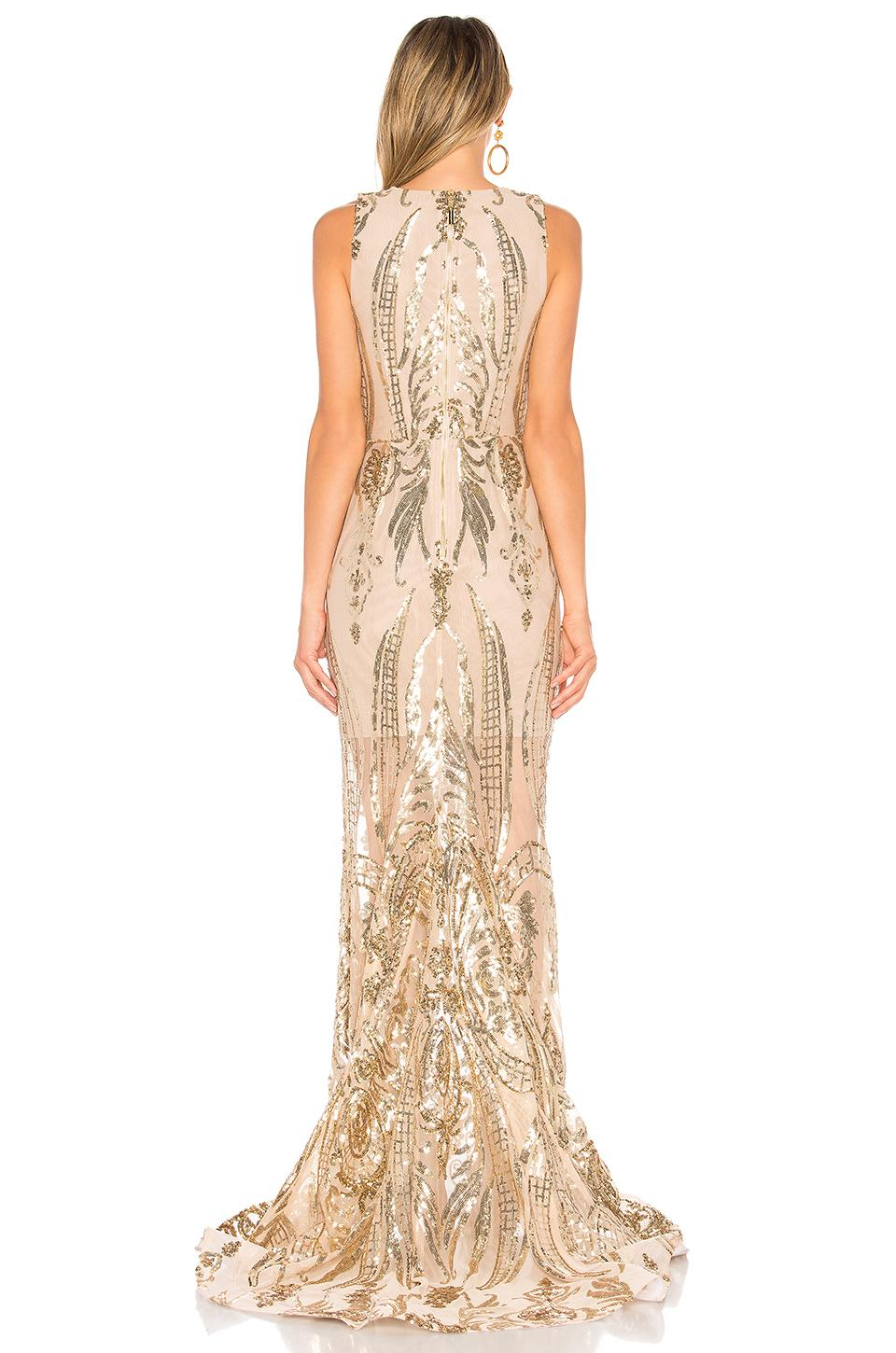 819846cc3f1 Bronx and Banco Ester Gold Gown in Metallic - Lyst