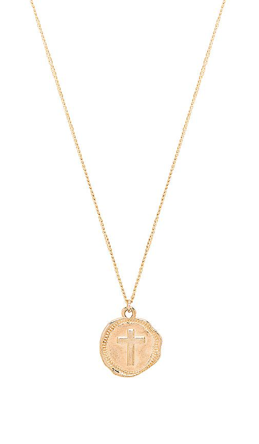 Sacred Heart Shield Necklace in Metallic Gold Joolz by Martha Calvo OxOSq