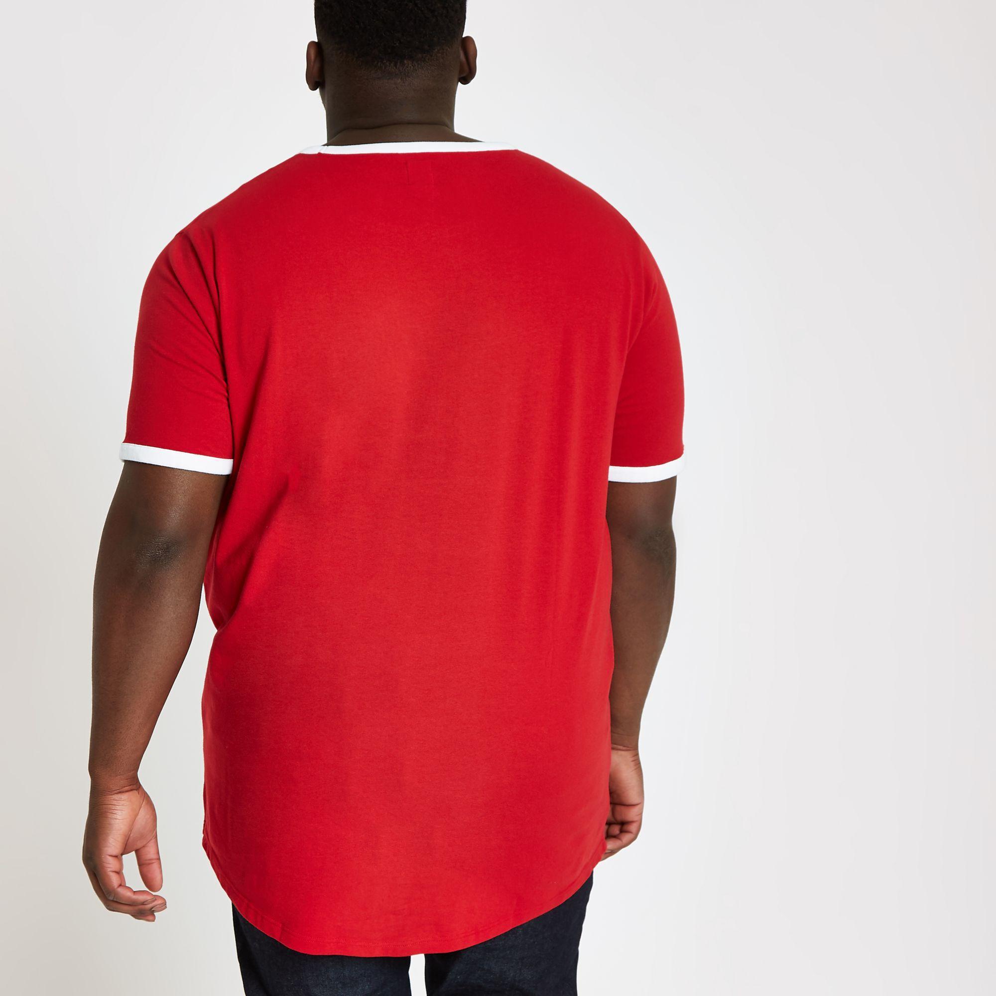 a4c53d5c772e ... Big And Tall Red 'prolific' Curve T-shirt for Men. View fullscreen
