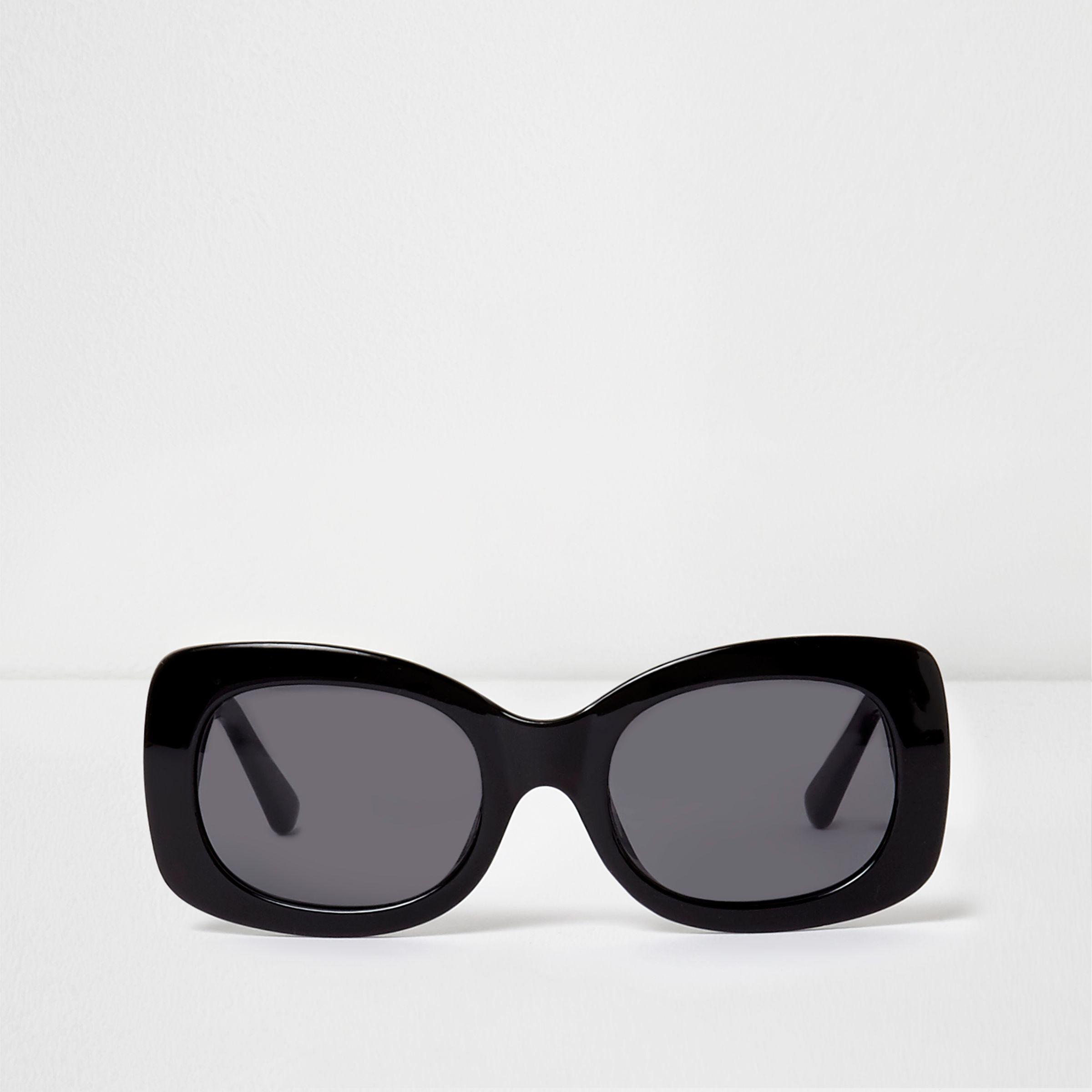 60f27242698 River Island Black Square Frame Glam Sunglasses in Black - Lyst