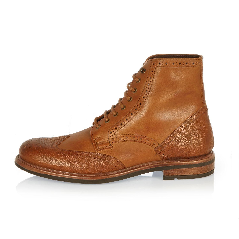 River Island Brown Brogue Boots