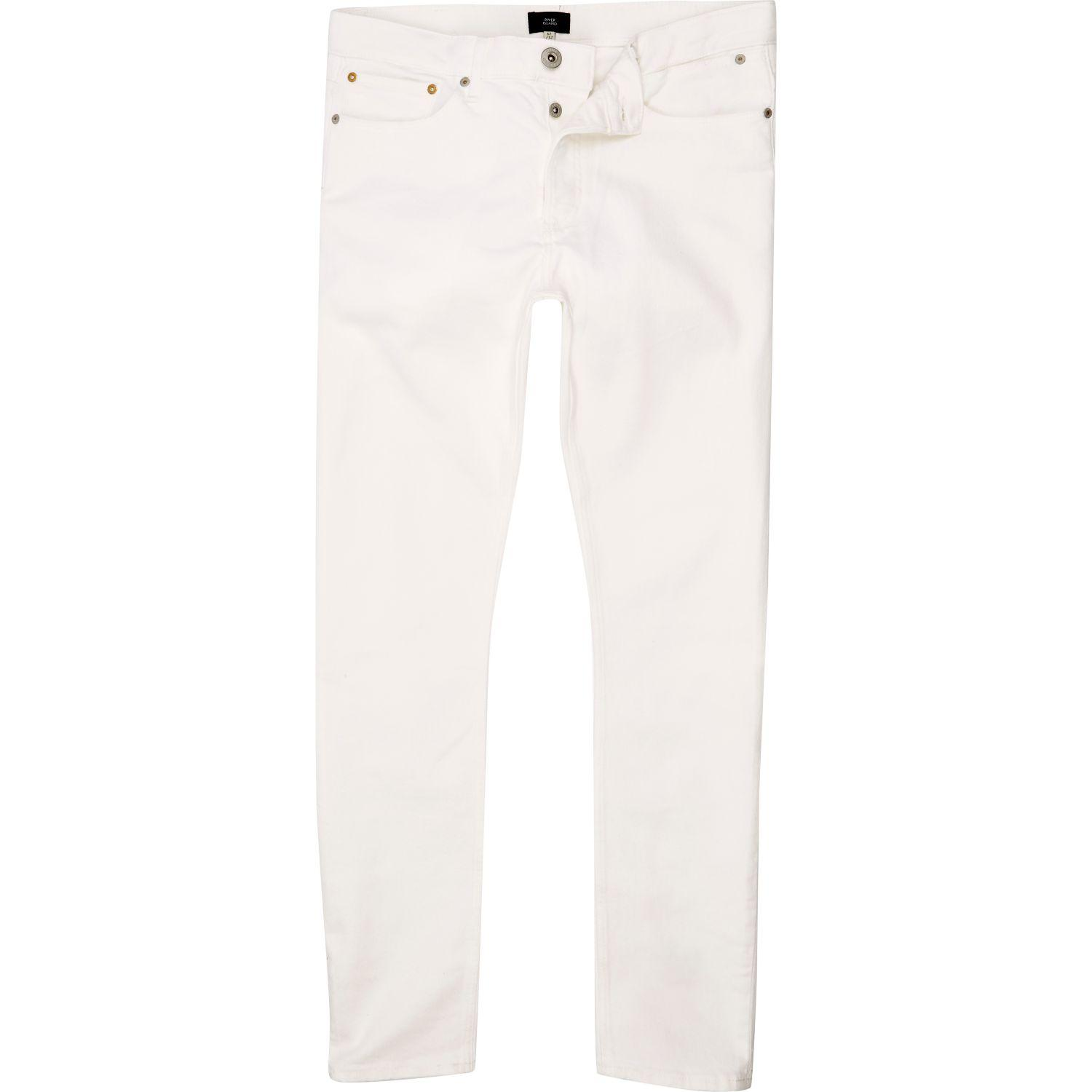 River Island White Skinny Sid Jeans In White Lyst